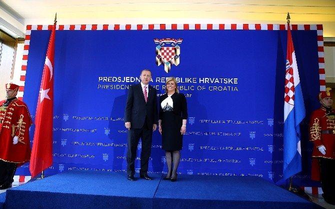 Erdoğan, Hırvatistan Cumhurbaşkanı Kitaroviç İle Görüştü