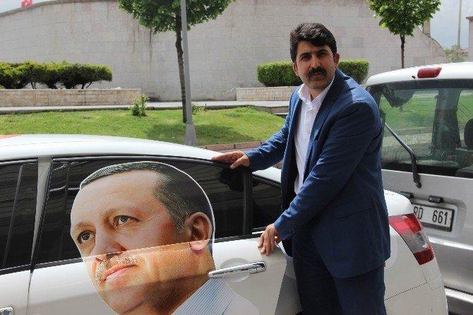 Cumhurbaşkanı'na Destek İçin Yollara Düşen Erol Özavcı Kayseri'ye Geldi