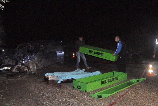 İznik'te Feci Kaza, 3 Ölü 2 Yaralı