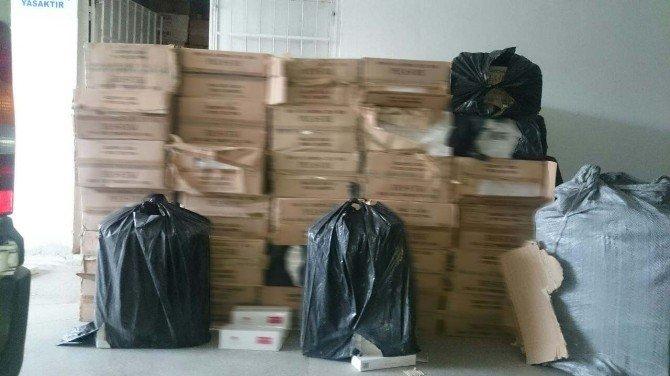 Erzincan'da 35 Bin Paket Kaçak Sigara Ele Geçirildi