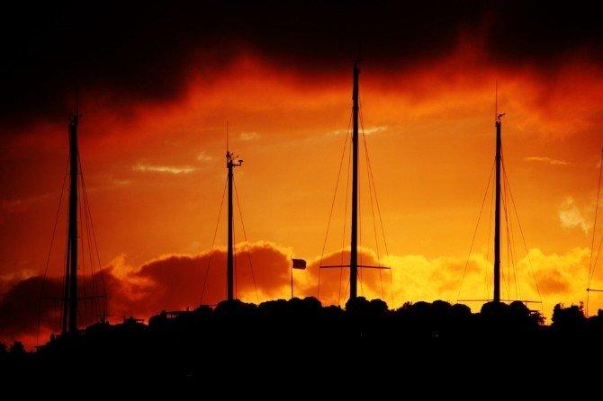 Bodrum'da Günbatımı Renkleri Büyüledi
