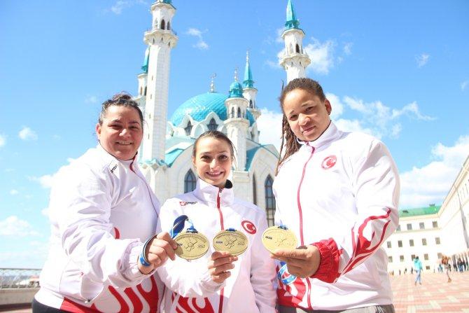 Türkiye ilk kez bir Avrupa Şampiyonası'nda üç madalya birden kazandı