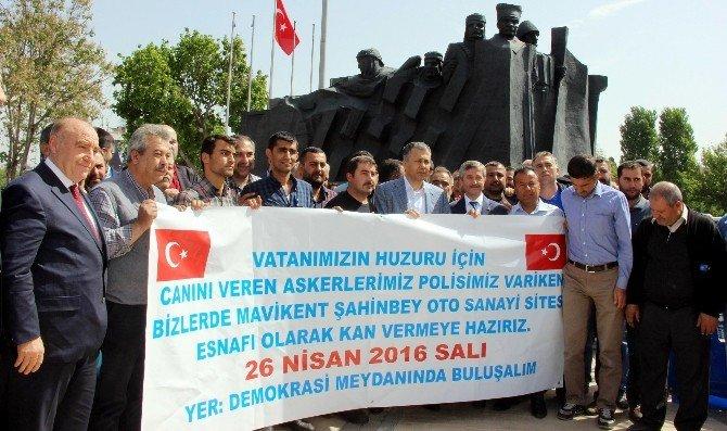 Sınır Kenti Gaziantep'te Kan Stoku İçin Geniş Kampanya Düzenleniyor