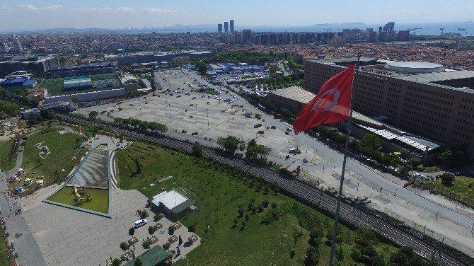 1 Mayıs'ın Kutlanacağı Bakırköy Halk Pazarı Havadan Görüntülendi