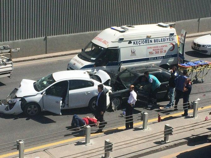 Başkent'te sıkışmalı kaza: 3 yaralı