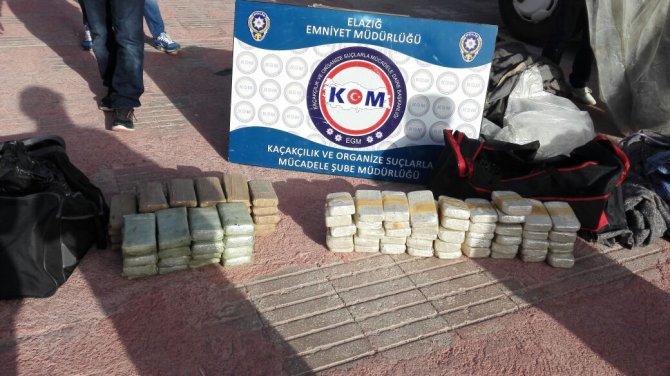 Elazığ'da 45 kilogram eroin ele geçirildi