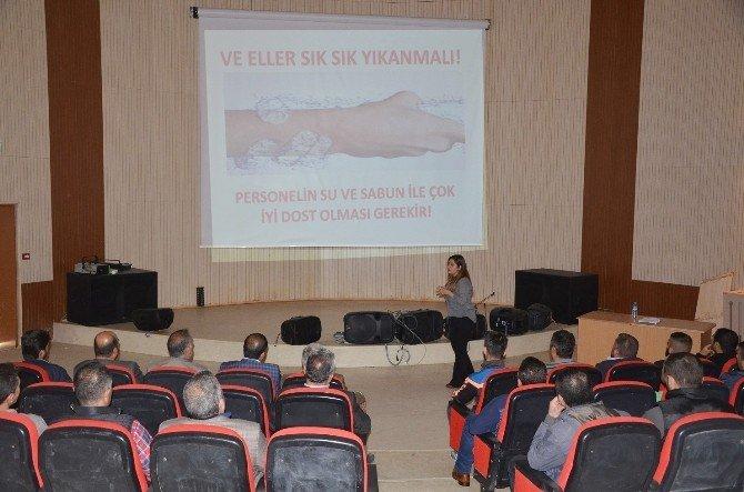 Erciş'te Fırıncılara Hijyen Eğitimi Verildi