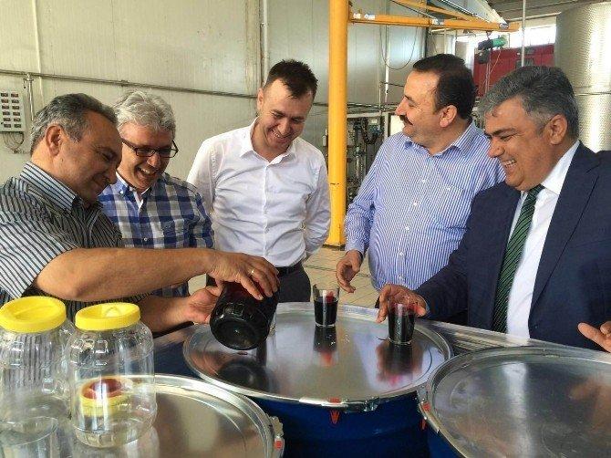 Başkan Özgüven'den Konsantre Fabrikasına Ziyaret