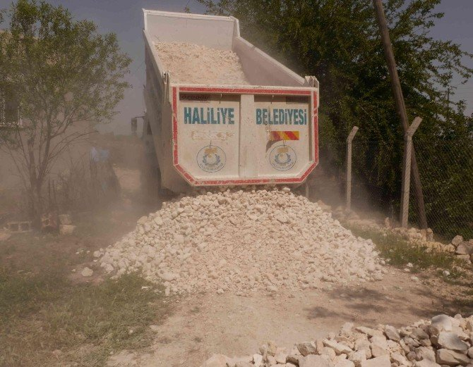 Haliliye Belediyesinden Boydere'de Stabilize Yol Çalışması