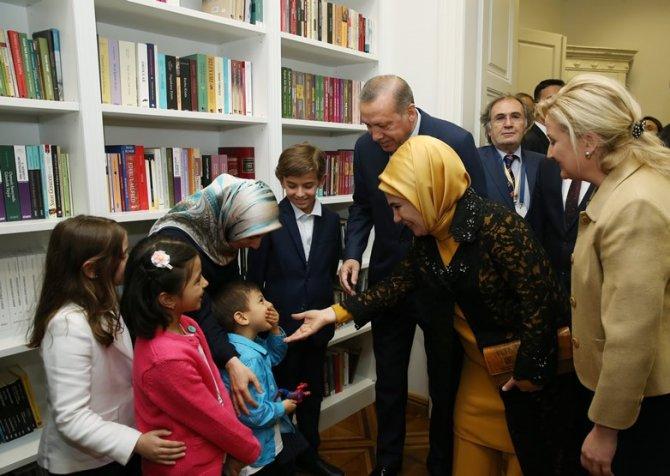 Erdoğan, Zagreb Yunus Emre Türk Kültür Merkezi'nin açılışını yaptı