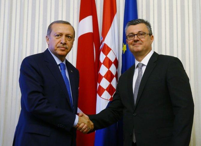 Erdoğan, Hırvatistan başbakanını kabul etti