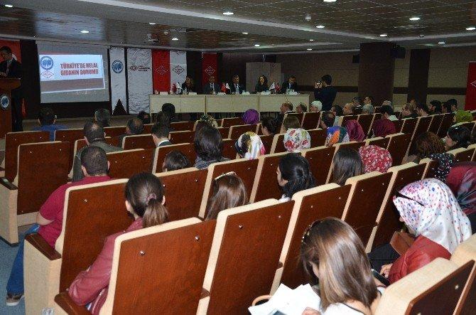 """Karaman'da """"Helal Ve Sağlıklı Gıda"""" Paneli"""