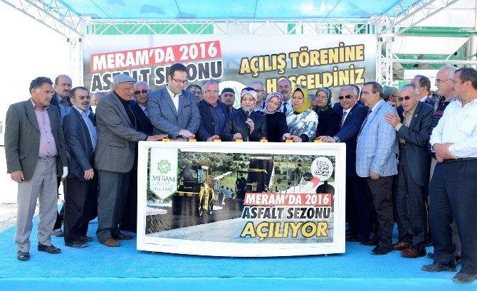 Meram'da Asfalt Sezonu Açıldı