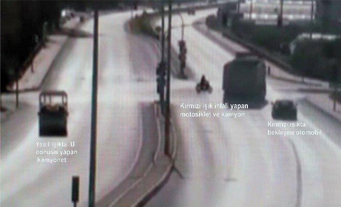 Kural İhlalleriyle Gelen Kazalar Kamerada