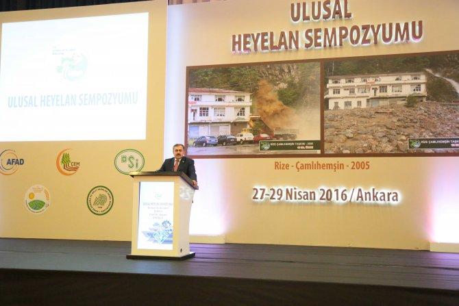 Bakan Eroğlu, 'Ulusal Heyelan Sempozyumu' açılışına katıldı