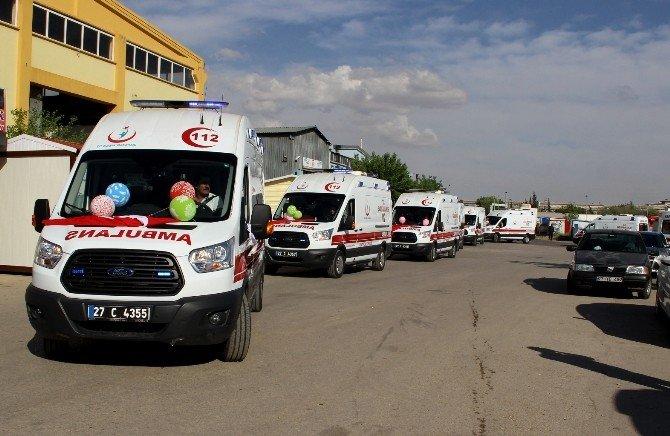 Sağlık Bakanlığı'ndan Gaziantep'e 10 Yeni Ambulans Desteği