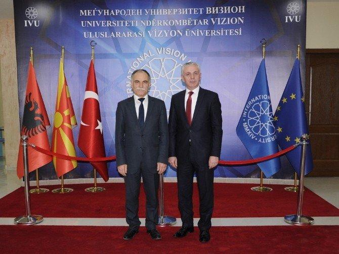 OMÜ, Makedonya Vizyon Üniversitesi İle İşbirliği Protokolü İmzaladı