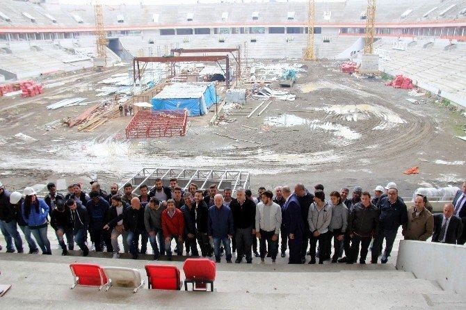 Samsunspor Kafilesi Yeni Stadı İnceledi
