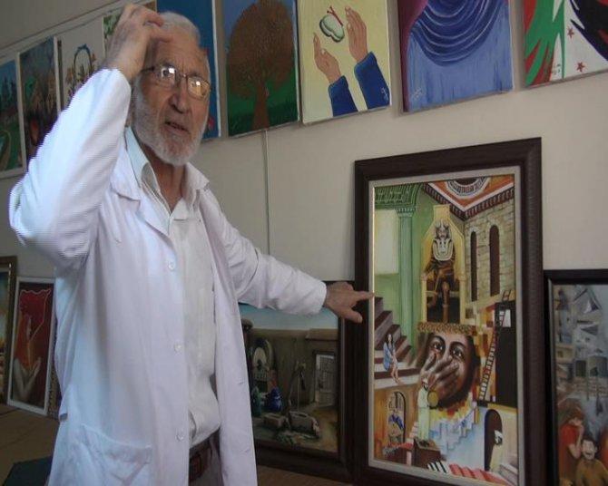 Suriyeli ressam dünyadaki zulmün resmini çiziyor
