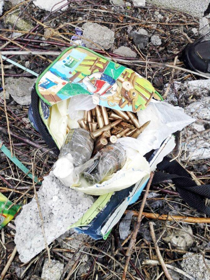 Beslenme çantasından bomba çıktı
