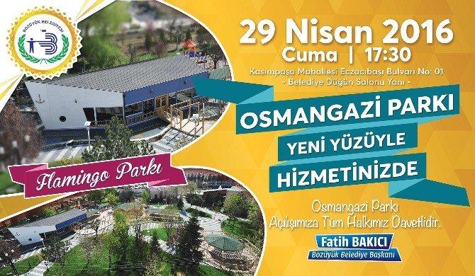 Osman Gazi Parkı Hizmete Giriyor