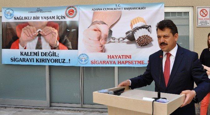 Adana Adliyesi'nde Sigarayı Bırakma Kampanyası