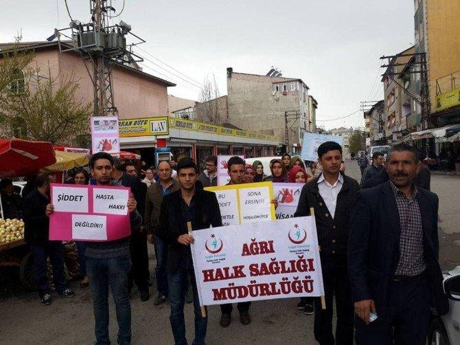 """Ağrı'da 28 Nisan """"Sağlıkçıya Şiddete Hayır"""" Günü"""