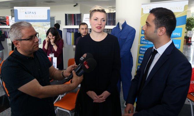 Alman tekstilciler Kahramanmaraş'ta incelemelerde bulundu