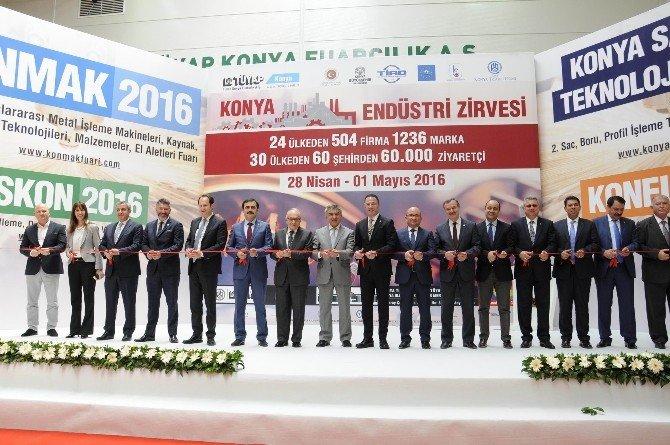 Konya Makine Fuarı Törenle Açıldı