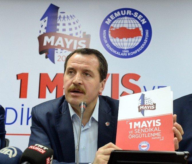 Memur-sen 1 Mayıs Ve Sendikal Örgütlenme Raporunu Açıkladı