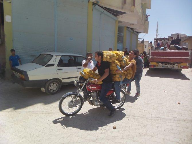 Şanlıurfa'da ücretsiz patates izdihamı