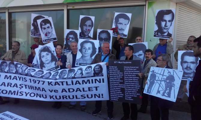 Kanlı 1 Mayıs'ta hayatını kaybedenler Taksim'de anıldı