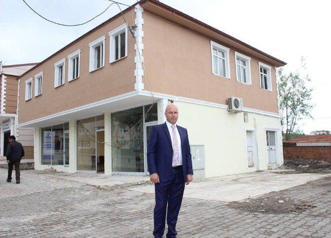 Büyüklü Kültür Merkezi İnşaatında Sona Gelindi