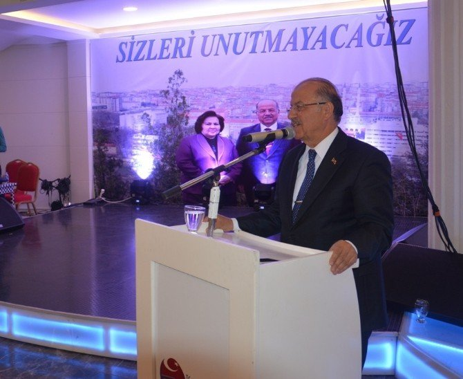 Kırıkkale Valisi Ali Kolat'a Veda Yemeği