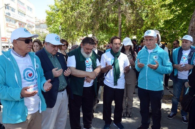 1. Uluslararası Sevgi Ve Barış Yürüyüşü Karaman'dan Başladı