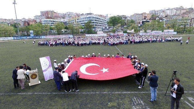 2 Bin Çocuğun Oluşturduğu Dev Türkiye Haritası Havadan Böyle Görüntülendi