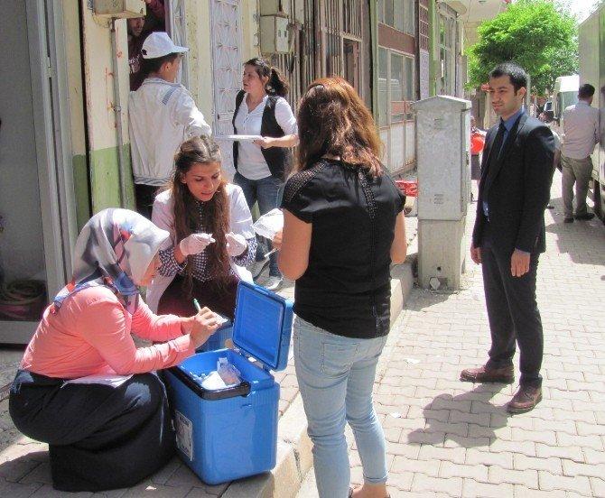 Araban İlçesinde, 225 Suriyeli Çocuğa Aşı Yapıldı