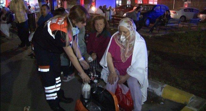 İzmir'de Hastanede Çıkan Yangın Korkuttu