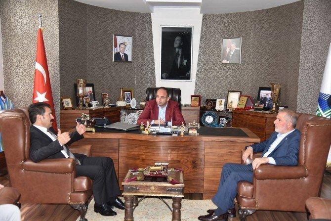 Milletvekili Yaman'dan Başkan Üzülmez'e Ziyaret