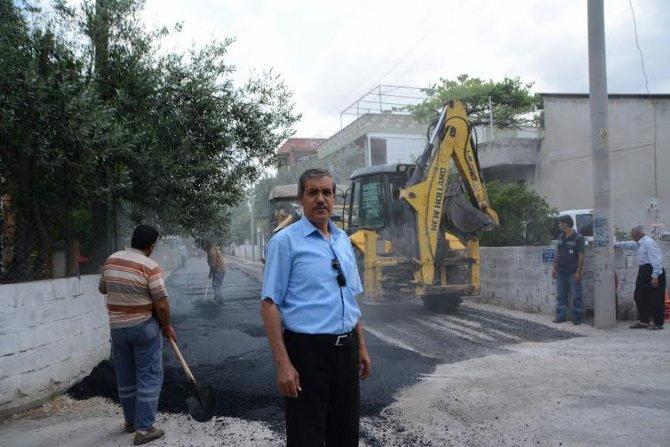 Osmaniye Belediyesi yolları asfaltlıyor