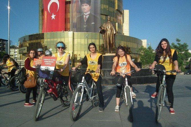 Aydın TEMA'dan Bisikletli Termik Santral Tepkisi