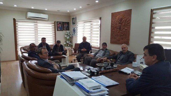 Başkan Yalçın, Taşıyıcı Kooperatifi Başkanları İle Bir Araya Geldi