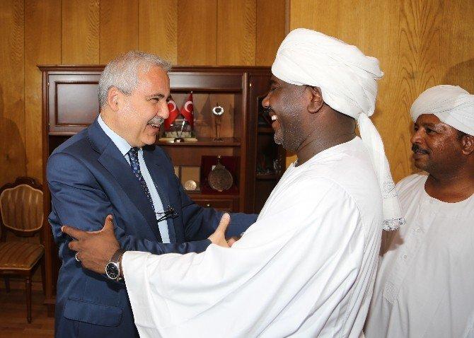 Sudanlı Heyetten Kahramanmaraş Valisine Ziyaret