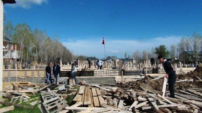 Erciş'te Bin Kişilik Hz. Ömer Camii Temeli Törenle Atıldı