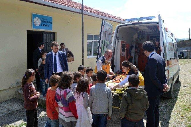 Sağlık Müdürlüğü Ve Tügva'dan Kırsal Mahalle Okullarına Ziyaret