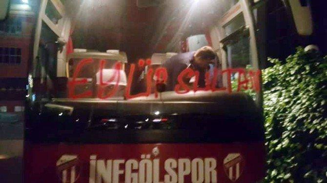 İnegölspor'un Takım Otobüsüne Saldırı