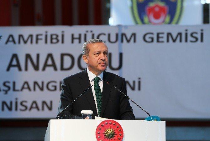 """Cumhurbaşkanı Erdoğan: """"Bu Gemi Gerektiğinde Dünyanın Her Köşesinde Askeri Operasyon Yapabilecek"""""""