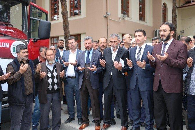 Erzincan'dan Suriye'ye Yardım Tırı Uğurlandı