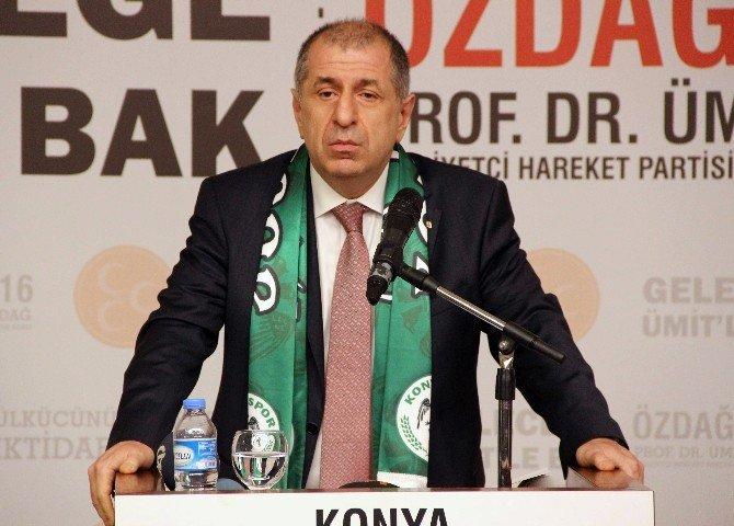 Ümit Özdağ Konya'da Partililerle Buluştu