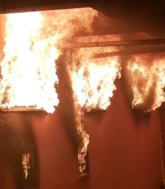 Ortaca'da Verici İstasyonunda Yangın